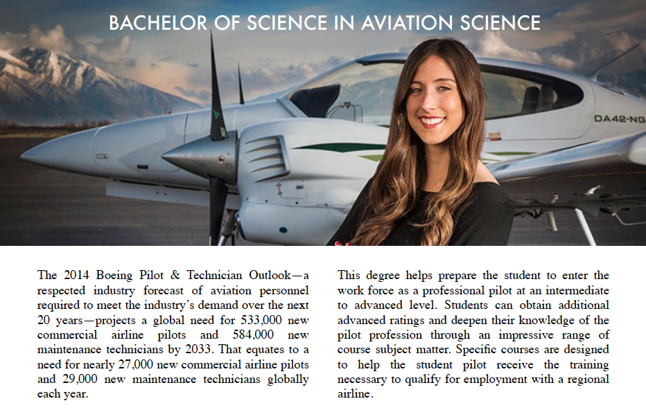 Bachelor of Science in Aviation | AeroVenture | Flight Training